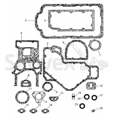 Gasket kit lower Perkins 1004